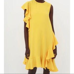 Stunning yellow Carolina Herrera trapeze dress